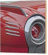 1961 Ford Thunderbird Taillight Wood Print
