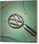 1961 Green Vw Wood Print