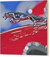 1961 Jaguar Kougar Hood Ornament 2 Wood Print