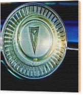 1961 Pontiac Catalina Steering Wheel Emblem Wood Print