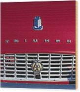 1961 Triumph Tr3a Roadster Grille Emblem Wood Print