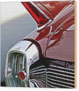 1962 Cadillac Eldorado Taillight Wood Print