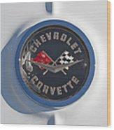 1962 Chevrolet Corvette Emblem 4 Wood Print