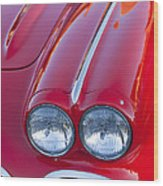 1962 Chevrolet Corvette Headlight Wood Print
