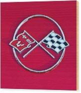 1962 Chevrolet Corvette Hood Emblem 2 Wood Print
