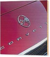 1962 Chevrolet Corvette Hood Emblem 3 Wood Print