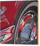 1962 Chevrolet Impala 409 Emblem Wood Print
