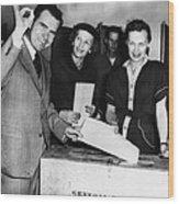 1962 Presidential Election. Senator Wood Print by Everett