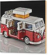 1962 Vw Lego Bus Wood Print