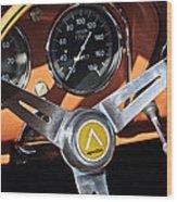 1963 Apollo Steering Wheel 2 Wood Print by Jill Reger
