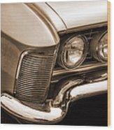 1963 Buick Riviera Sepia Wood Print