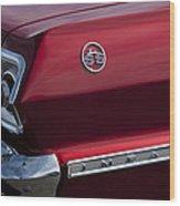 1963 Chevrolet Impala Ss Taillight Wood Print