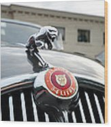 1963 Jaguar Emblem Wood Print