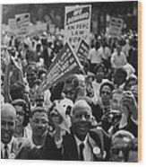 1963 March On Washington. Close-up Wood Print