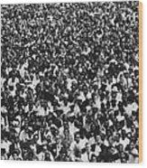 1963 March On Washington. Crowd Wood Print by Everett