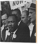 1963 March On Washington. Martin Luther Wood Print by Everett