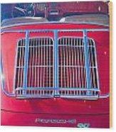 1963 Red Porsche 356b Super 90 Back End Wood Print