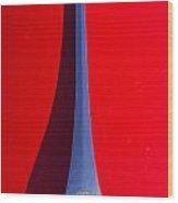 1963 Red Porsche Hood Emblem Wood Print