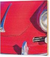 1963 Red Porsche Wood Print
