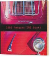 1963 Red Porsche S90 Coupe Poster Wood Print