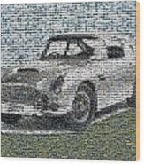 1964 Aston Martin Mosaic Wood Print