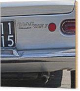 1964 Fiat 2300s Abarth Taillight Wood Print