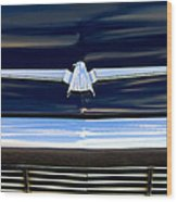 1964 Ford Thunderbird Emblem Wood Print