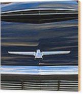 1964 Ford Thunderbird Hood Emblem Wood Print