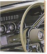1964 Ford Thunderbird Steering Wheel Wood Print