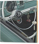 1964 Volkswagen Vw Steering Wheel 2 Wood Print