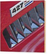 1965 Ac Cobra Emblem 2 Wood Print