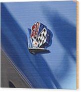1965 Chevrolet Corvette Emblem Wood Print