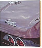1965 Chevrolet Corvette Tail Light Wood Print