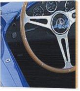 1965 Cobra Sc Steering Wheel 2 Wood Print