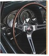 1965 Corvette Roadster Dash Wood Print