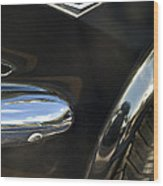 1965 Ford Mustang Emblem 3 Wood Print