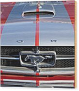 1965 Ford Mustang Front End Wood Print