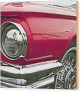 1965 Ford Thunderbird Front End Wood Print