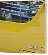 1965 Lotus Elan S2 Engine Wood Print