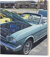 1965 Mustang Convertible Wood Print