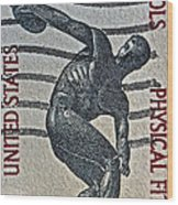 1965 Physical Fitness Stamp Wood Print