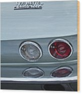 1966 Chevrolet Corvette Tail Light 2 Wood Print