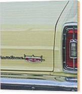 1966 Ford Fairlane Xl Taillight Emblem Wood Print