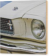 1966 Ford Shelby Gt 350 Grille Emblem Wood Print
