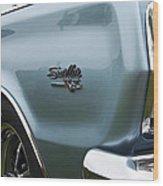 1966 Plymouth Satellite Commando V8 Wood Print