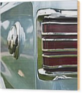 1966 Plymouth Satellite Tail Light Wood Print