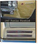 1967 Bronze Pontiac Firebird  Poster S Wood Print