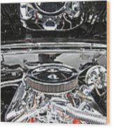 1967 Chevrolet Chevelle Ss Engine 2 Wood Print