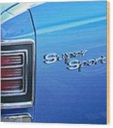 1967 Chevrolet Chevelle Super Sport Taillight Emblem Wood Print