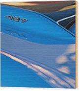 1967 Chevrolet Corvette 427 Hood Emblem Wood Print